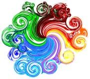 Coloré (comprenez les chemins de découpage) Image libre de droits