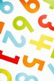 Coloré cousez sur des numéros Images libres de droits