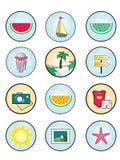 ` Coloré d'été de ` original, créatif, peu commun et lumineux d'icône illustration libre de droits