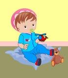 Coloré d'un bébé Images libres de droits