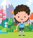 Coloré d'un petit garçon illustration stock