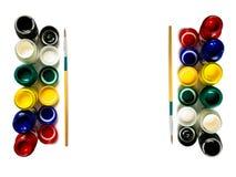 Coloré de couleur et du pinceau d'affiche de bouteilles Photographie stock libre de droits