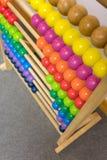 Coloré de l'abaque en bois, foyer sélectif Image stock