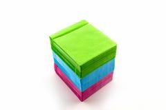 Coloré de la caisse de papier CD images libres de droits