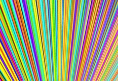 Coloré de la ligne fils, illustration 3d Image libre de droits