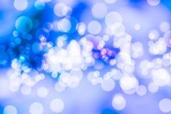 Coloré de la lumière bleue de bokeh brouillée photo libre de droits
