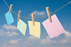 Coloré de la note de papier Photo stock
