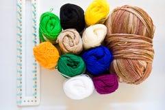Coloré de la soie Photo stock