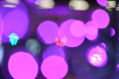 Coloré defocused de texture de fond de nuit de lumière de Bokeh photographie stock libre de droits