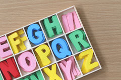 Coloré des caractères dans la boîte Images libres de droits