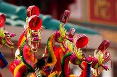 Coloré des jouets drôles de dragon Images stock