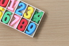 Coloré des nombres dans la boîte Image stock
