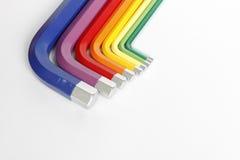 Coloré des trousses à outils d'Allen d'hexagone Photo libre de droits