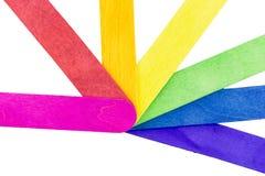 Coloré du bâton de crème glacée  Images libres de droits