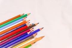 Coloré du crayon de couleur Photographie stock