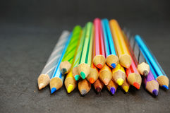 Coloré du crayon de couleur Image stock