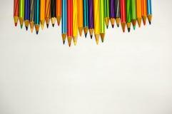 Coloré du crayon de couleur Photos libres de droits