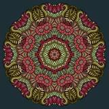 Coloré ethnique floral décoratif de vecteur abstrait Photo libre de droits