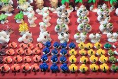 Coloré handcraft fait par la coquille de conque Photographie stock libre de droits