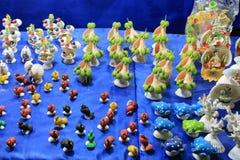 Coloré handcraft fait par la coquille de conque Photographie stock