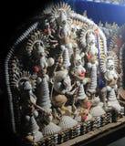 Coloré handcraft fait par la coquille de conque Durga Maa Image stock