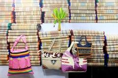 Coloré handcraft fait par le jute Image stock