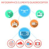 Coloré infographic pour l'ensemble de quadrocopter Image stock