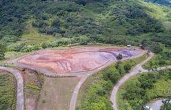 23 a coloré la terre dans DES Couleurs de Vallee en Îles Maurice Stationnement national Image libre de droits