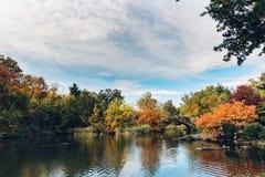 Coloré quand chute venant, automne dans le Central Park photo libre de droits