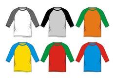 Coloré raglan de T-shirt Photos libres de droits