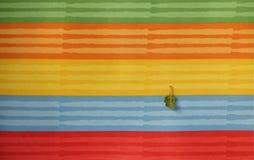Coloré rayé de la texture de textile Image libre de droits