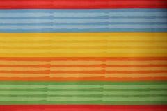Coloré rayé de la texture de textile Photos stock