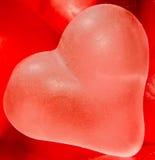 Coloré (rose, rouge et orange), gelée transparente de forme de coeur Photo stock