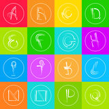 Coloré simple abstrait de Logo Icons Set Thin Line Photos libres de droits
