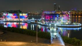 Coloré sur la rivière dans la réflexion de ciel de koreaTwilight de Séoul Photos libres de droits