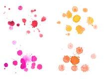 Coloré tiré par la main d'aquarelle abstraite d'aquarelle Images libres de droits