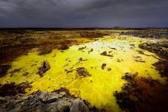 Color ácido del Dallol Imagen de archivo