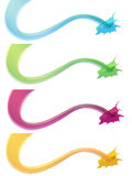 Color. Ed paint splashes - vector illustration Stock Photo
