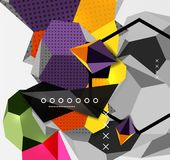 Color 3d geometric composition poster Royalty Free Stock Image