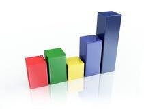 Color 3d graph Stock Image