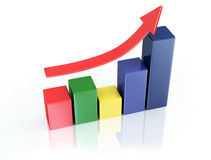 Color 3d graph Stock Image