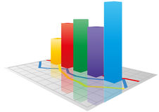 Color  3d graph Royalty Free Stock Image