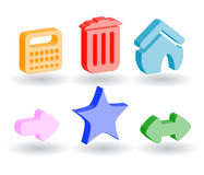 Color 3d web icons. Many color 3d web icons Stock Photo