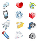 Color 3d web icons. Vector illustration Stock Photos
