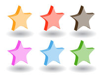 Color 3d web icons. Vector illustration. Set of color 3d web icons Royalty Free Stock Photo