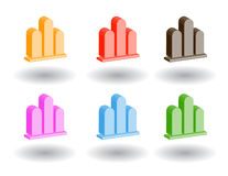 Color 3d web icons. Vector illustration. Set of color 3d web icons Stock Image