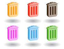 Color 3d web icons. Vector illustration. Set of color 3d web icons royalty free illustration