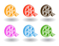 Color 3d web icons. Vector illustration. Set of color 3d web icons Stock Images