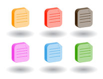 Color 3d web icons. Vector illustration. Set of color 3d web icons Royalty Free Stock Photography