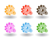 Color 3d web icons. Vector illustration. Set of color 3d web icons vector illustration